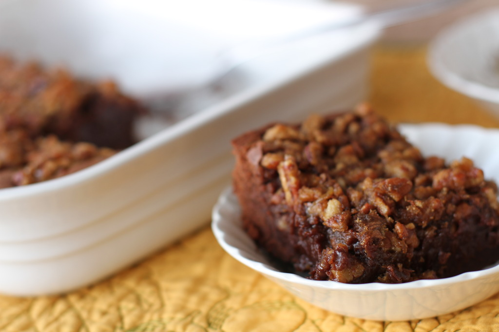 chocolate pecan pudding cake