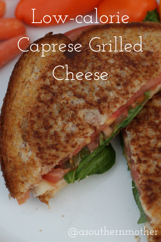 Low-calorie Caprese Grilled Cheese
