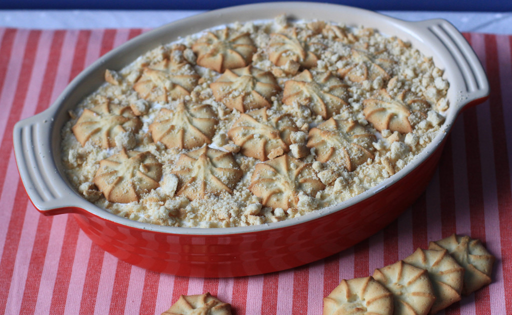 danish butter cookie pudding
