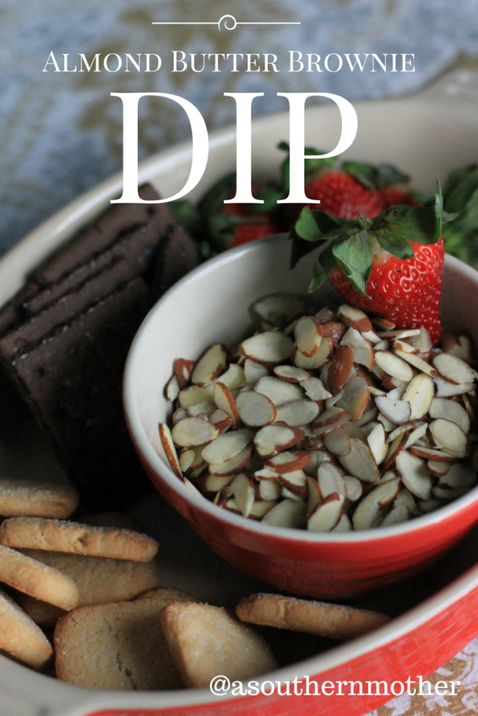 almond butter brownie dip