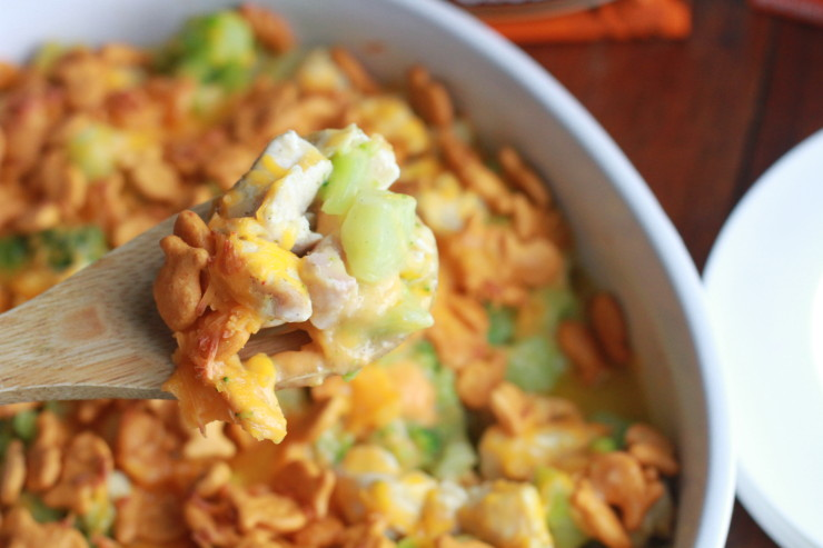 Goldfish Crackers Chicken Broccoli and Cheese Casserole