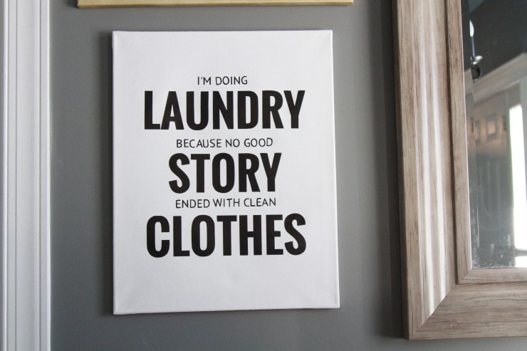 diy clean clothes laundry sign