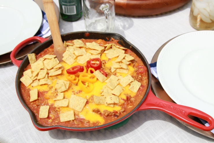 turkey nacho skillet
