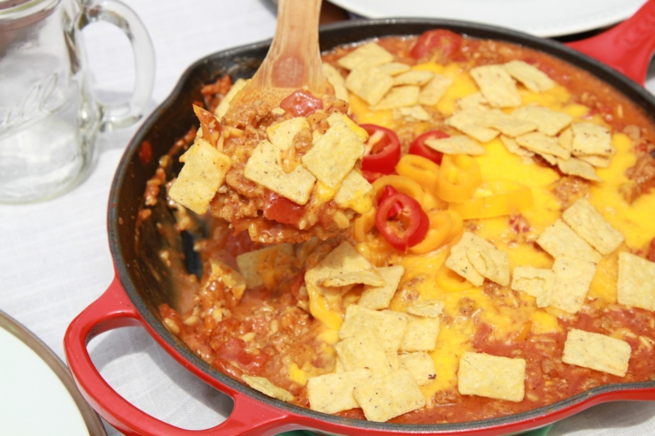 ground turkey nacho skillet
