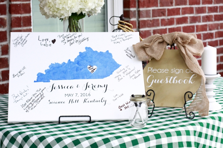 Kentucky wedding guestbook tutorial