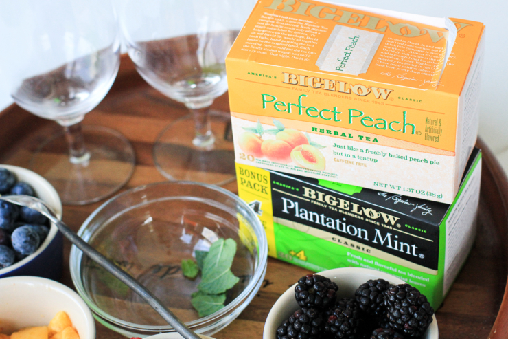 Fruit muddled teas