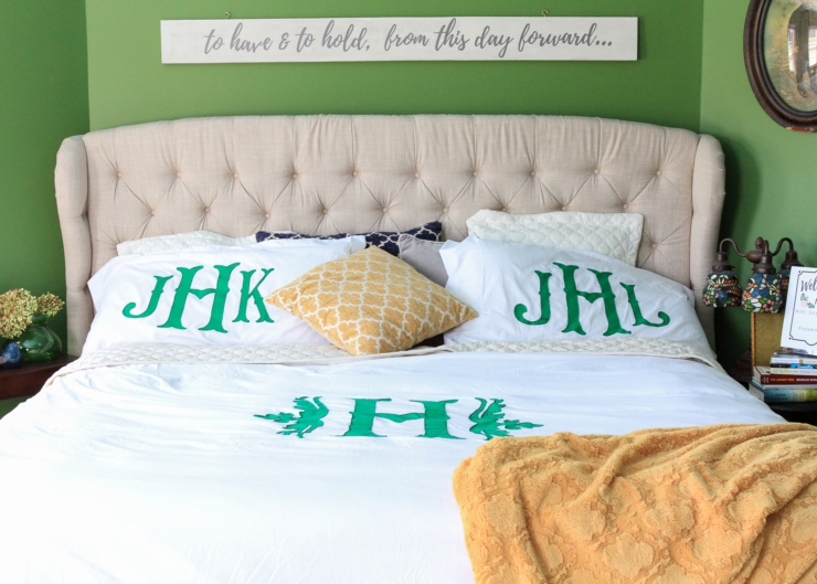Monogram duvet tutorial