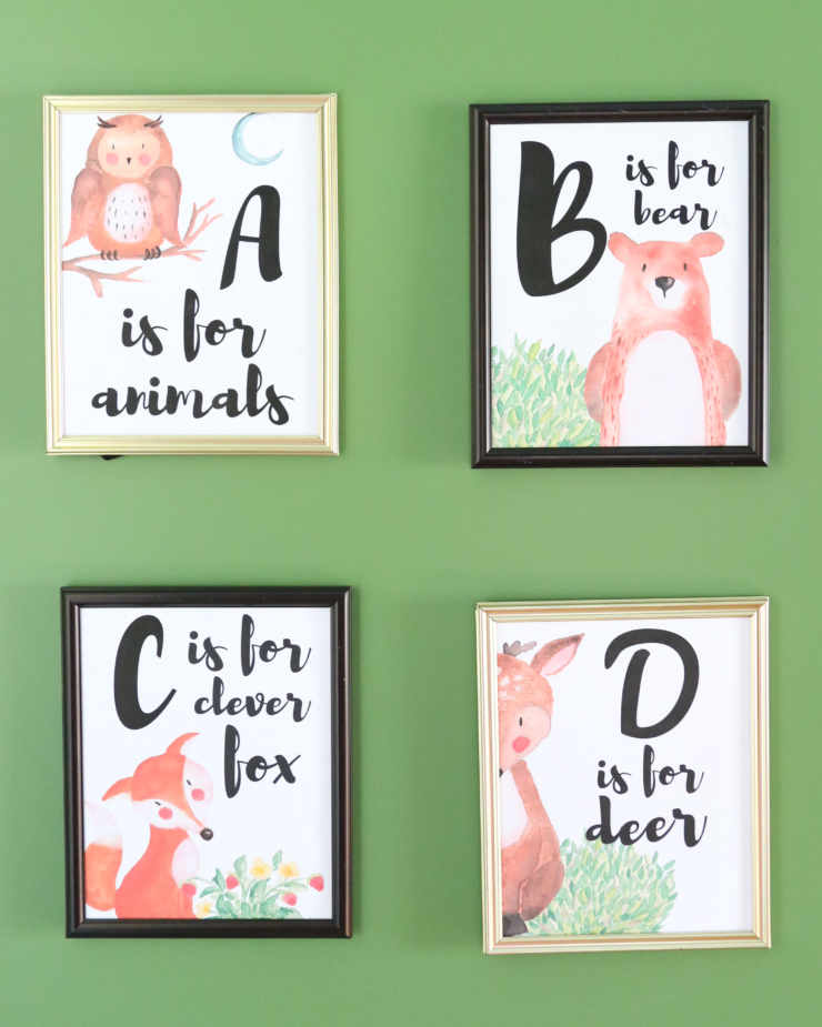 woodland decor printables