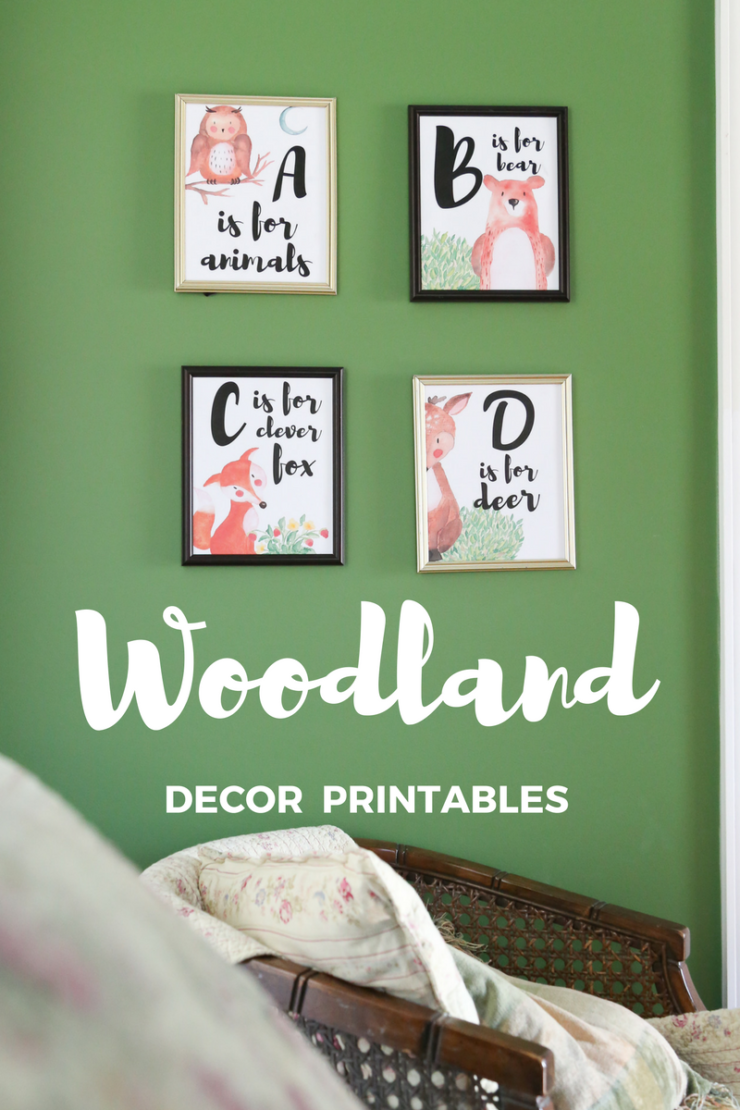 woodland animal printables