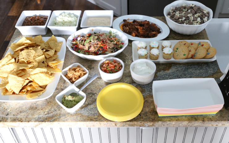 pulled pork nacho bar
