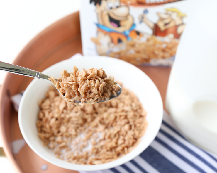 Cinnamon Pebble cereal