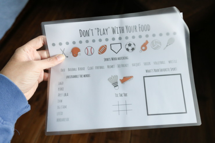 reusable activity placemat tutorial