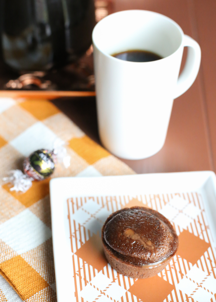 spiced chocolate truffle muffin